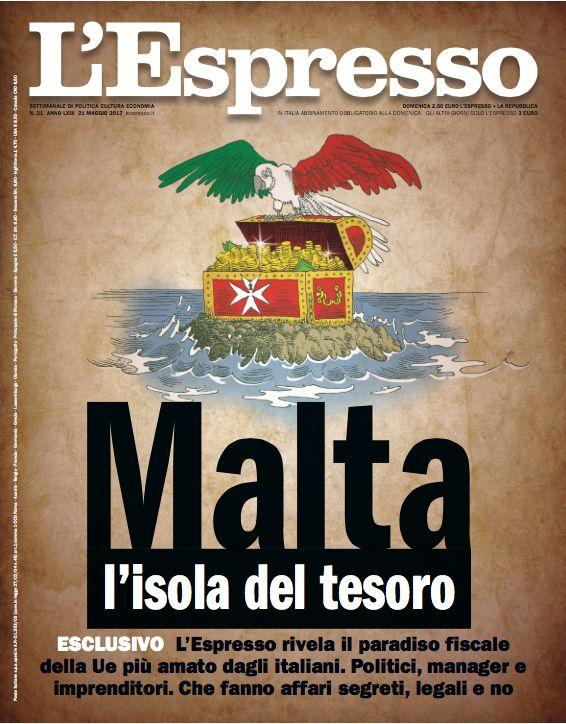 La copertina dell'Espresso in edicola da domenica 21 maggio