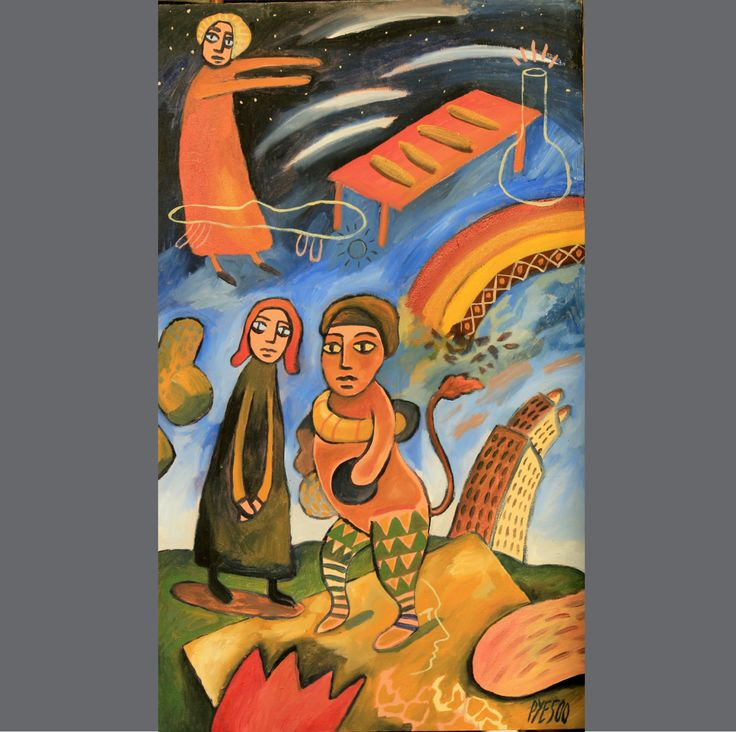 All God's Children series. Acrylic on canvas.