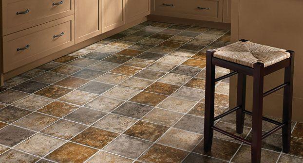 Fiberglass sheet vinyl flooring gallery kitchen pinterest for Kitchen sheet vinyl flooring