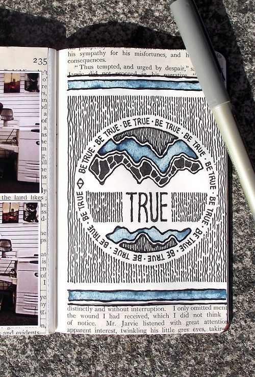 What a neat journal page. Not a talent that comes easily to me!