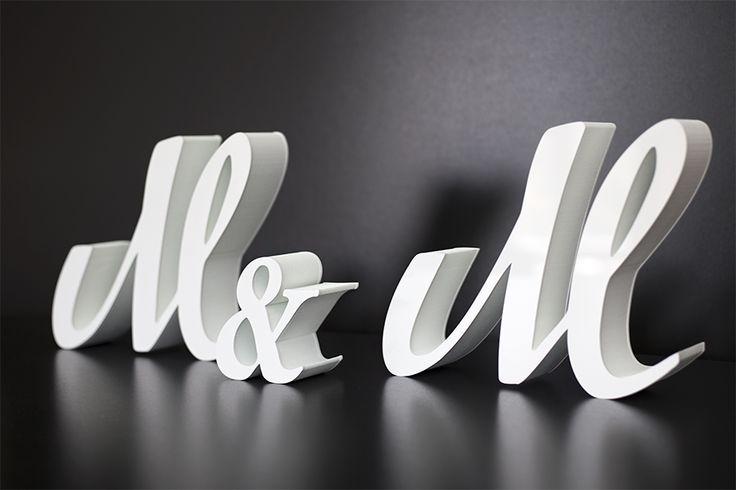 Inicjały ze styroduru na stół weselny. #inicjały #literki #stojące #styrodur #styropian #wesele #ślub #stół #dekoracja #nowoczesna #design #modern #plexi #laser #& #napis