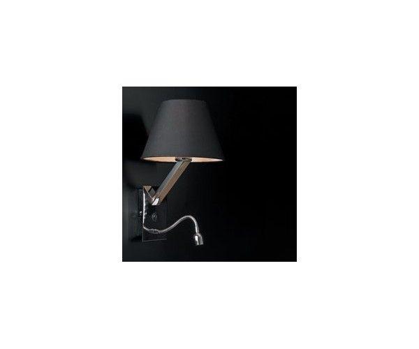 MAXlight Oprawa ścienna LED, kinkiet nowoczesny ORLANDO 5103WA/BLNM z czarnym ABAŻUREM