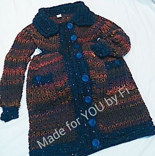 MadeforYOUbyFi's Braided Maternity Coat - Made to order. Prices start at $220 for Medium Original design by Glamour4You.  Maternity Modifications by MadeforYOUbyFi.