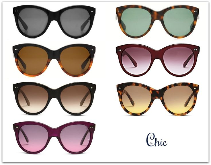 All types of Manhattan sunglasses. Okulary przeciwsłoneczne Manhattan, Oliver Goldsmith: Black, Dark Tortoiseshell, Caramel Split, Raspberry Coulis, Black Wood, Leopard, Royale