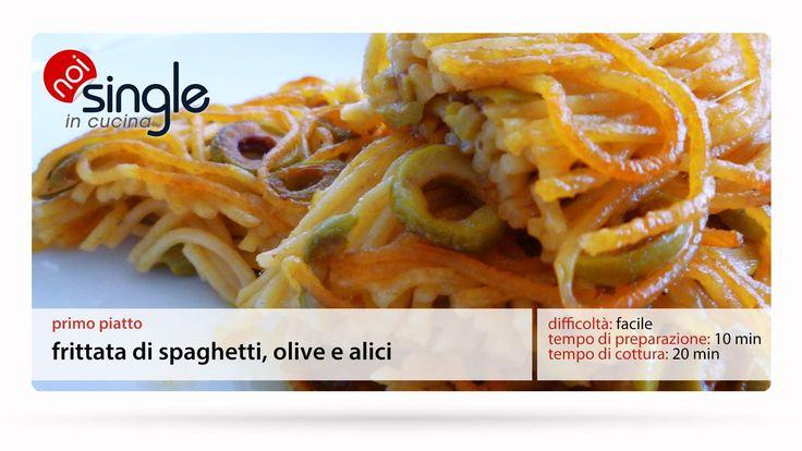 http://www.youtube.com/subscription_center?add_user=NoiSingleInCucina  Prepariamo una frittata di spaghetti dal sapore mediterraneo con olive ed alici. Possiamo preparare gli spaghetti il giorno prima o usare anche quelli avanzati come base.  Difficoltà: facile Tempo di preparazione: 10 min Tempo di cottura: 20 min #primipiatti #frittatadispaghetti #spaghetti #pasta #cucinapersingle #noisingleincucina #olive #alici #facile #veloce #single #cucinaitaliana #ricettepersingle