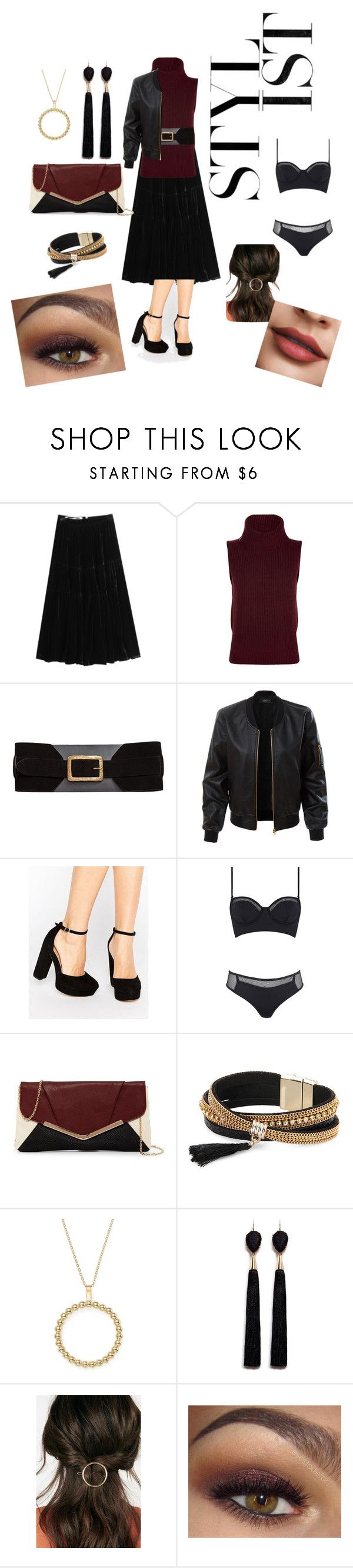 """""""Wine Stylist"""" by ross-stark on Polyvore featuring McQ by Alexander McQueen, Theory, MANGO, LE3NO, ASOS, Kendall + Kylie, Jessica McClintock, Simons, Bloomingdale's and Mignonne Gavigan"""