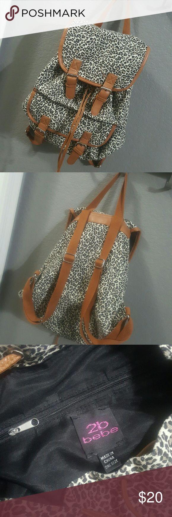 Bebe cheetah print back pack Cheetah print back pack with plenty of room for storage. Used once. bebe Bags Backpacks