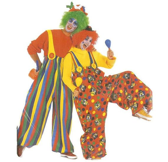 Large Clown Pants for Adults Pattern Burda 3309 Multiple Sizes