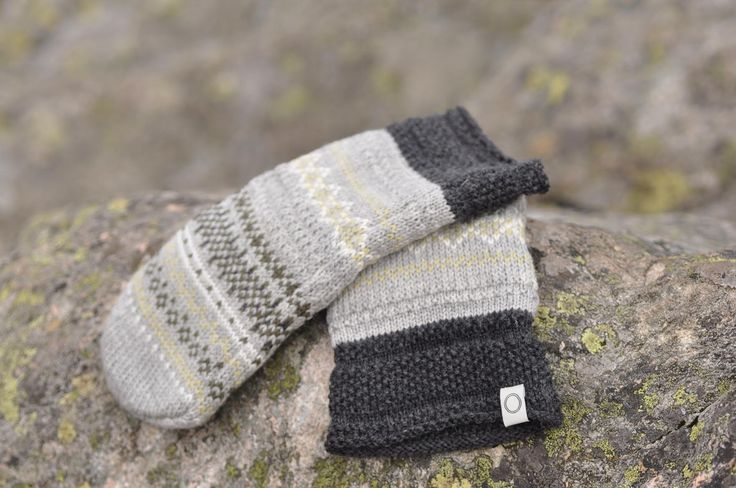 Glesver Mittens - wonderful mittens in 100% wool with a fleece lining. Knitted in the same wonderful pattern and colours as the rest of the Glesver design. Machine washable. Made in Norway. #Norway #Bergen #wool #ull #norskdesign #norwegiandesign #knitted #knit #madeinnorway #SusanFosse #strikk #strikke #mittens #knittedmittens #votter #strikkevotter #Glesver