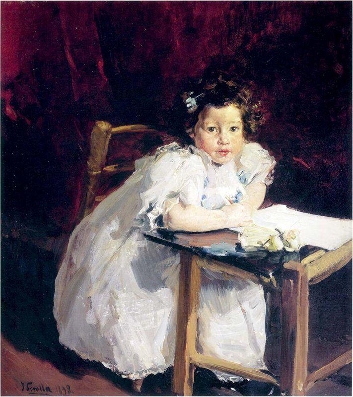 Joaquin Sorolla y Bastida - Elena at Her Desk