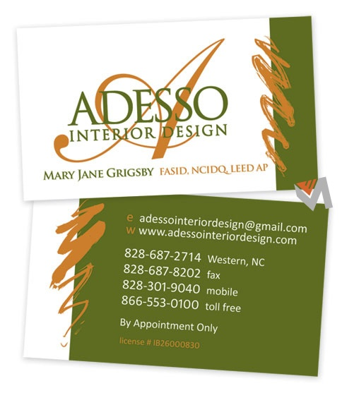 Adesso Interior Design Business Card By Vivid Mint