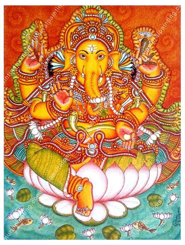 10270 best images about ganapati on pinterest ganesh for Mural ganapathi
