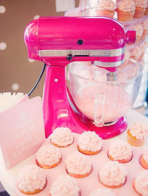 Give me all kitchen appliances as pink please