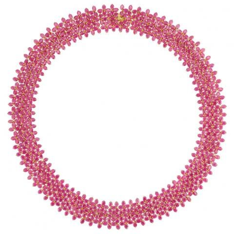 Gold and Ruby Necklace for Sale at Auction on Tue, 12/06/2011 - 07:00 - Important Estate Jewelry | Doyle Auction House