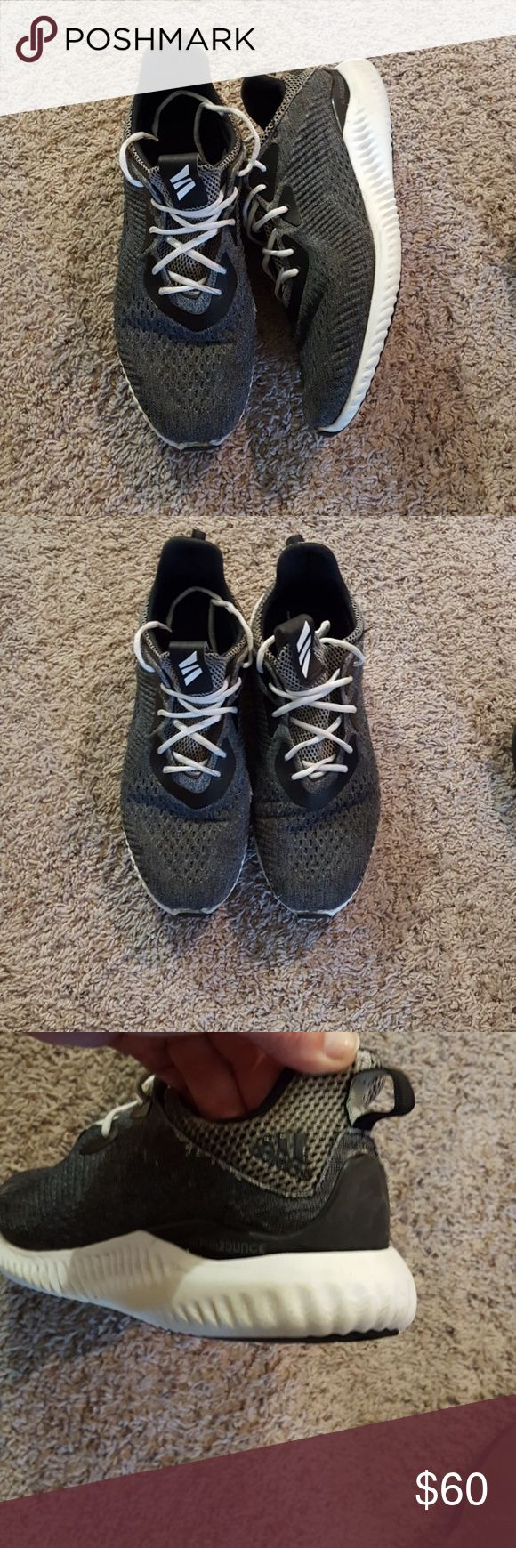 Men's Adidas Men's Alphabounce Adidas Shoes size 14. Charcoal gray. Worn but plenty of life left. One small snag, see last pic. adidas Shoes Athletic Shoes