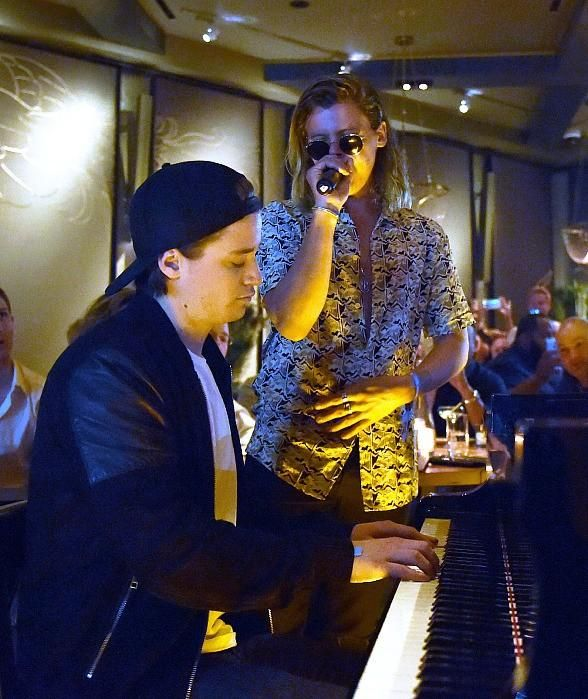 Kygo Performs at Beauty & Essex Las Vegas and Debuts his Cloud Nine Dessert (Pictured: Kygo and Conrad Sewell – Photo credit: David Becker).