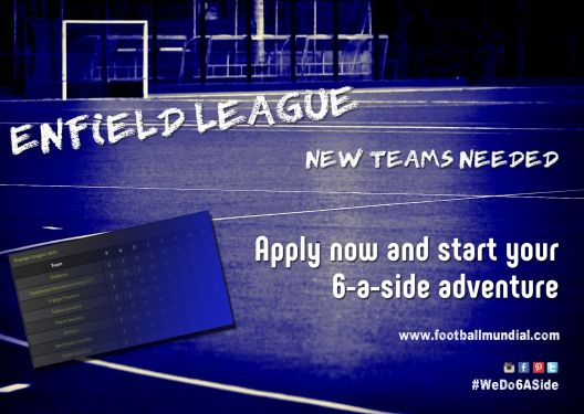 ENFIELD LEAGUE: More Teams Needed In Enfield! http://footballmundial.com/articles/view/408/more-teams-needed-in-enfield