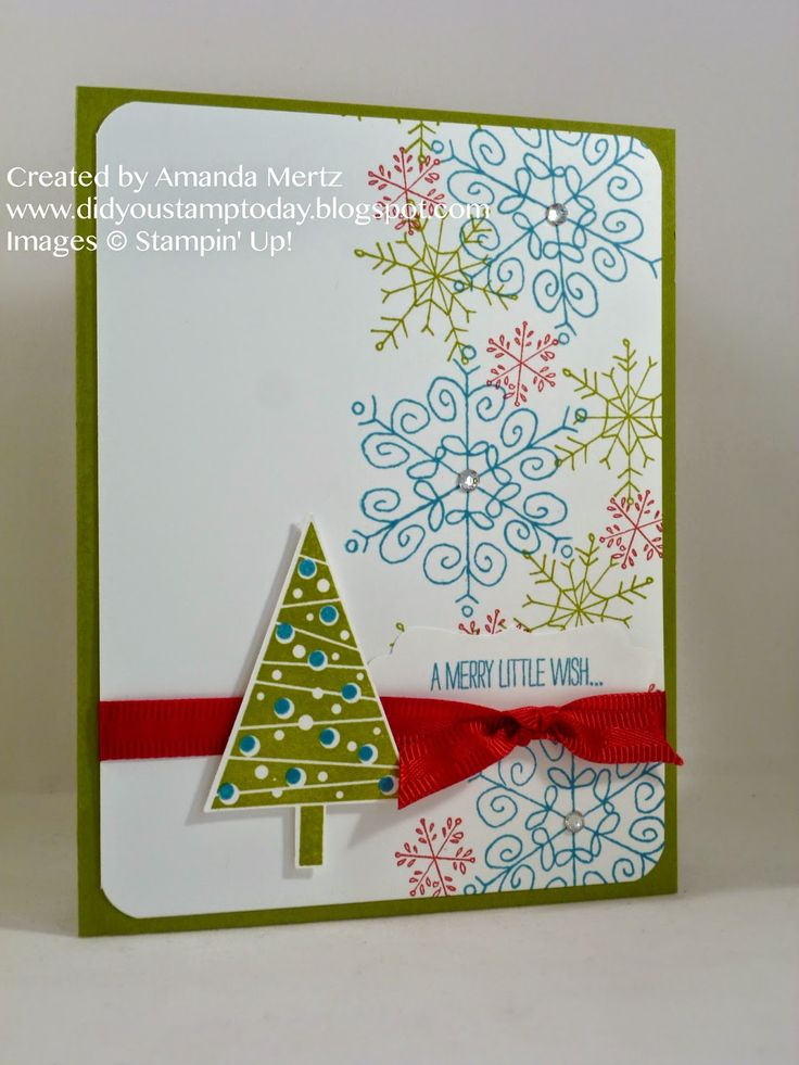 Did You Stamp Today?: Bold Snowflakes  Uses: Endless Wishes, Festival of Trees, tree punch, Stampin' Up!, SU