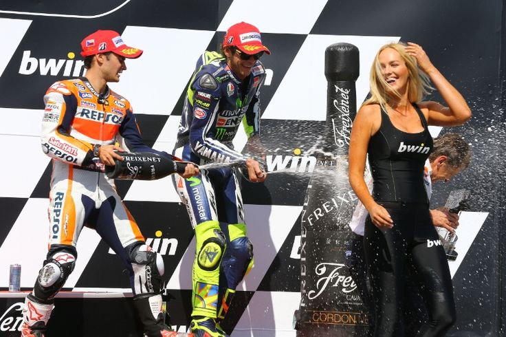 Pedrosa and Rossi, Czech MotoGP 2014