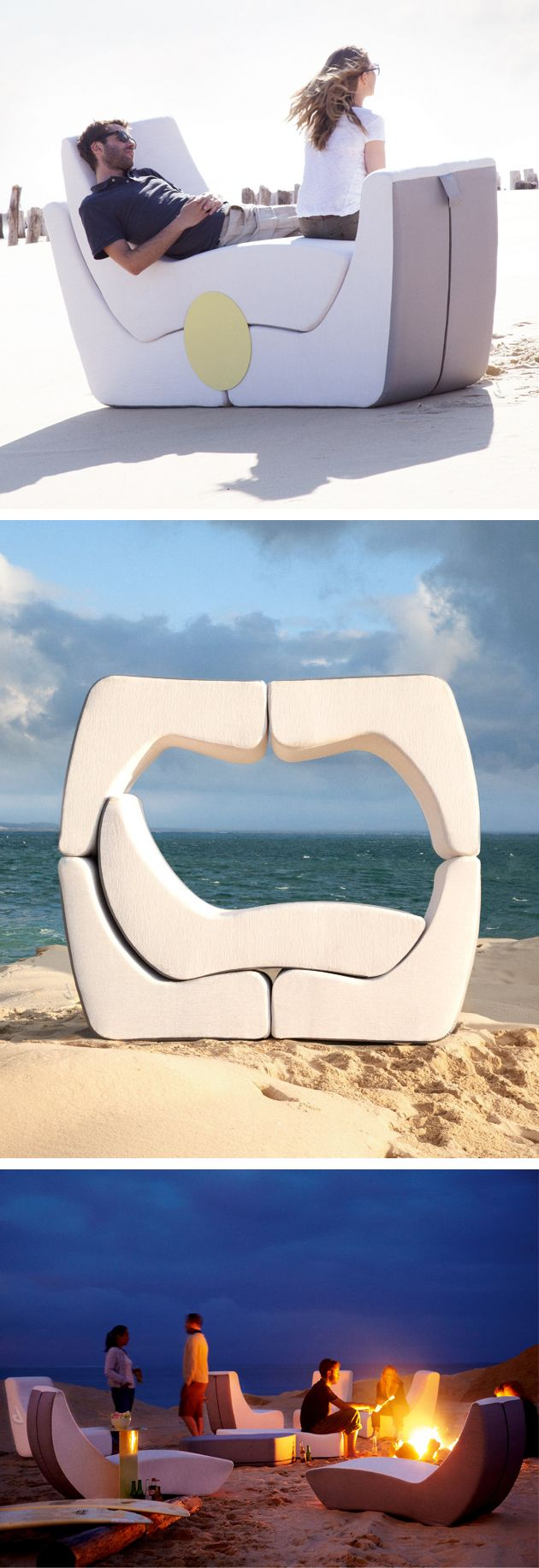 Puzzle outdoor lounge set | EPIC design! Good for one... to six or more people. #furniture_design