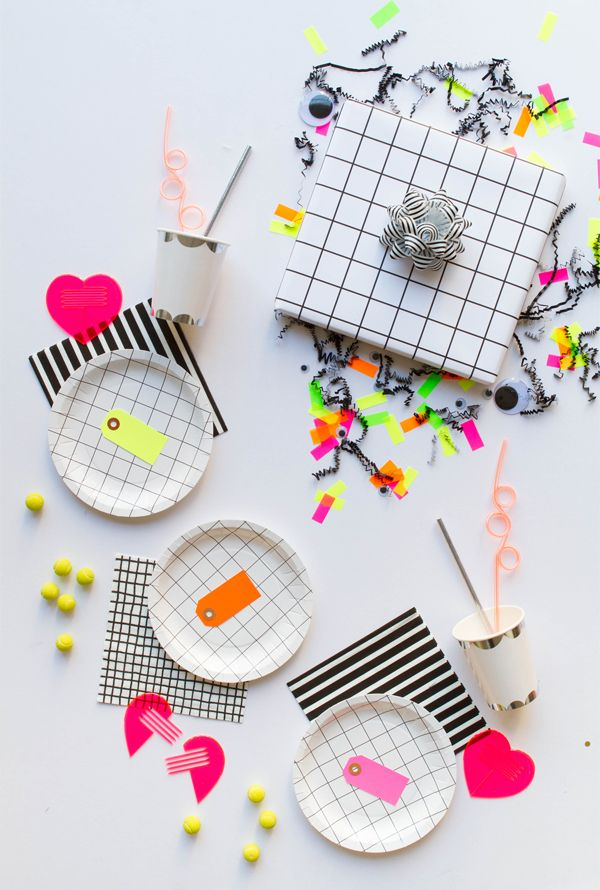 Party Idea: Neon Grid | Oh Happy Day!