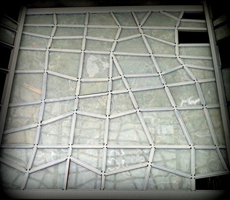 White onyx+glass+white onyx lobby entry vestibule