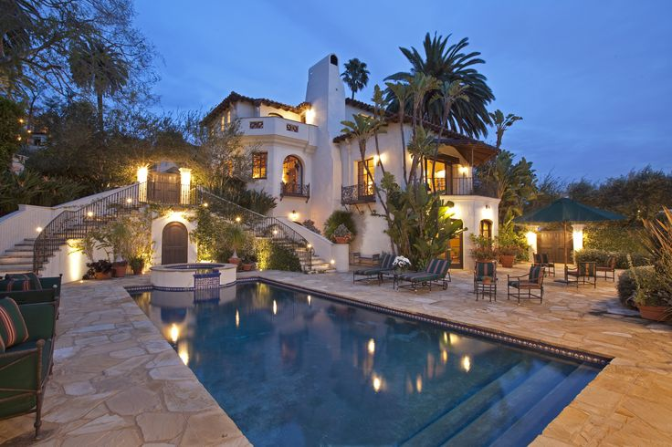Luxury home swimming pool spanish colonial los feliz - Indoor swimming pools in los angeles ca ...