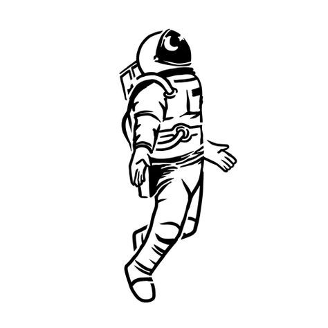 simple astronaut stencil - photo #22