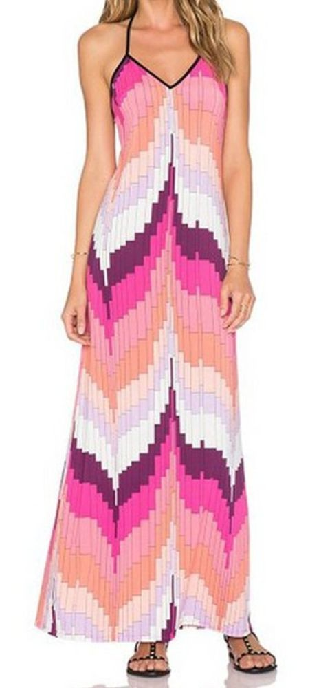 Women color beach prom party dress maxi long tunic fashion chic #unbranded