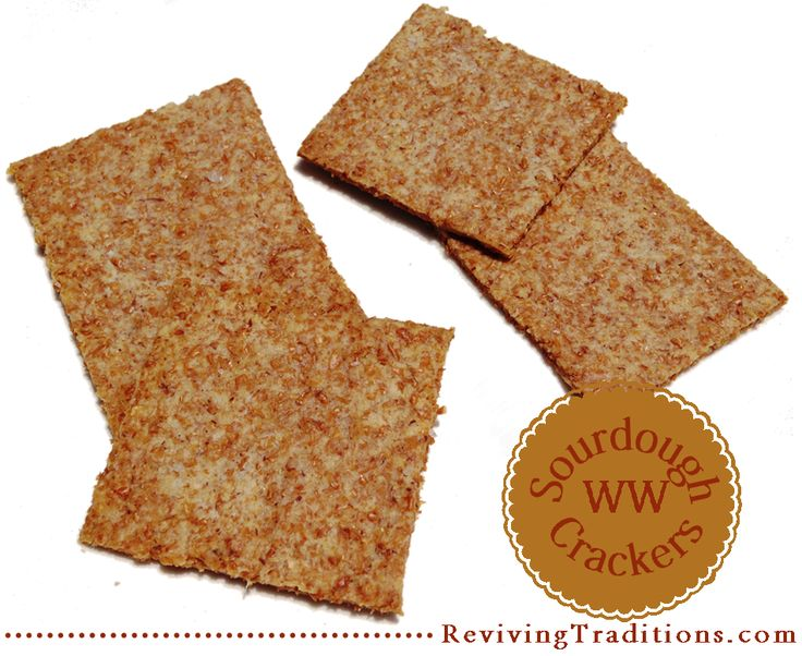 Sourdough WW Crackers - Reviving Traditions