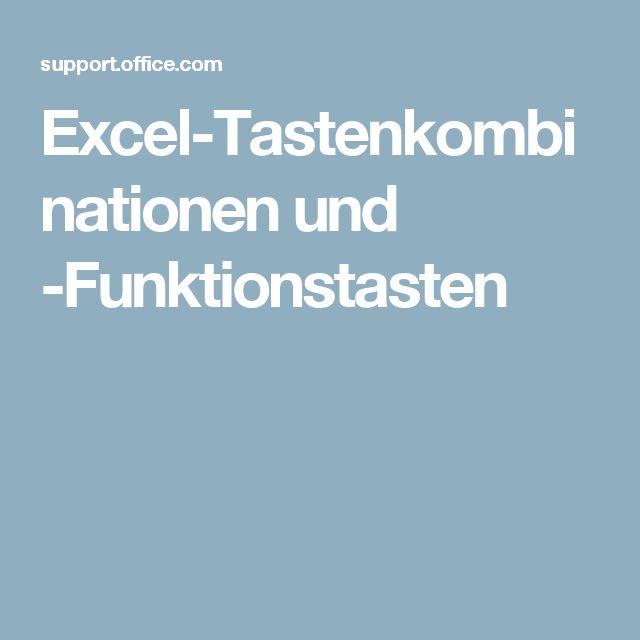 Excel-Tastenkombinationen und -Funktionstasten – exceltricks.de