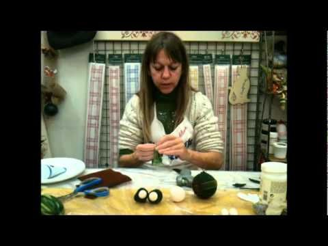 video palline natale con feltro - YouTube