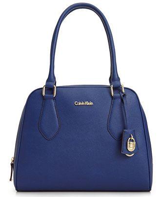 Calvin Klein Modena Saffiano Satchel - Calvin Klein - Handbags & Accessories - Macy's