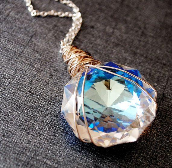 Garnet Til Alexandros XVII - Third Iteration - Swarovski crystal and sterling silver on Etsy, $67.00
