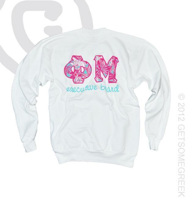 We're loving these Custom Phi Mu Executive Board Sweatshirts