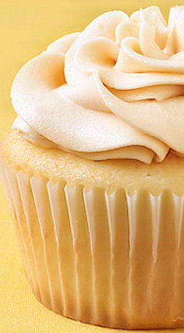 Vanilla Almond Cupcakes w/ Salted Caramel Buttercream