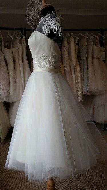 Stunning House of Mooshki wedding dress at Lace & Co.