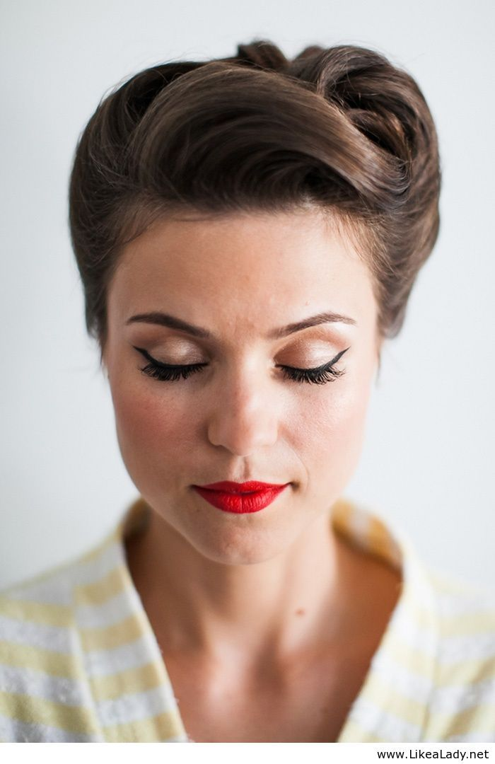Retro bridal look or prom hair