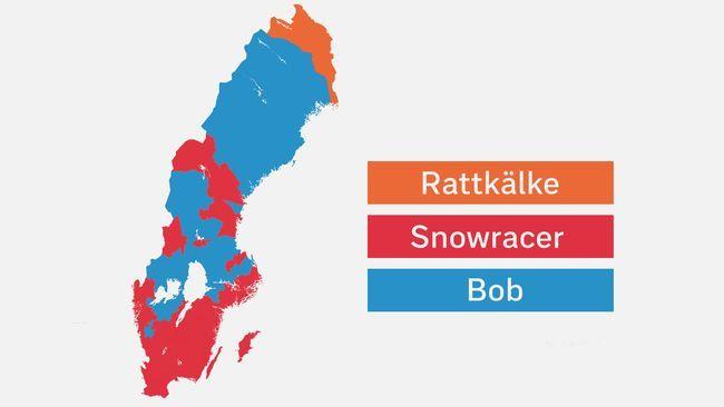 Kartläggning: Här säger folk bob och här snowracer | SVT Nyheter