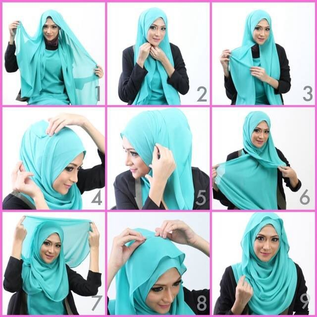 #hijab #shawl #tutorial #simple Mehr