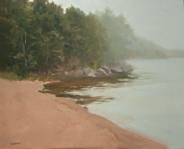 """Denise Antaya - Morning Fog Oil on Ampersand panel 8"""" x 10"""""""