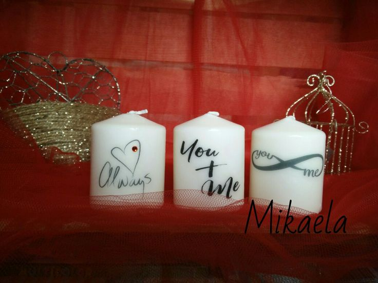 Candela decorata San Valentino idea regalo
