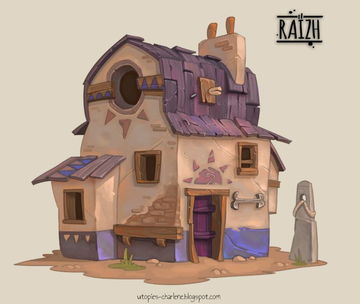 ArtStation - Wéreb House, Charlène Le Scanff (AKA Catell-Ruz)
