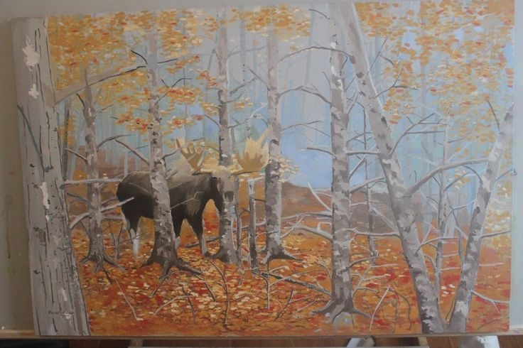 Leaves change colour. Nights come earlier. Moose roam the woods in rut.
