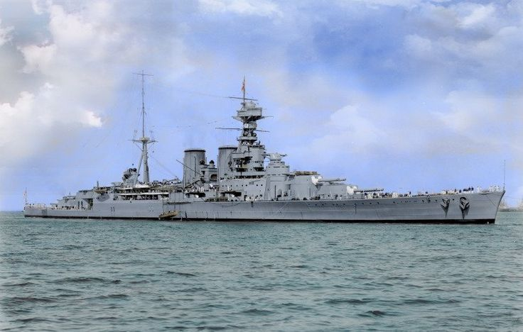 HMS Hood, the last battlecruiser built for the Royal Navy. She was the only one of the Admiral-class battl