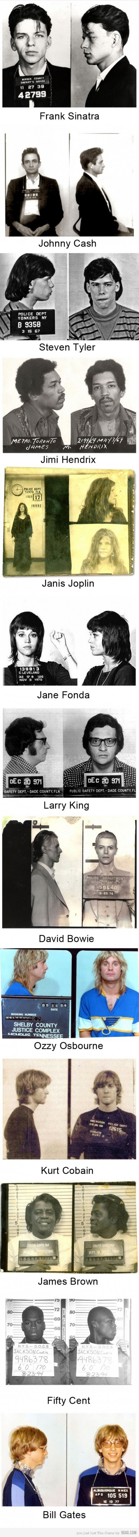 Celebrity Mugshots (The last one surprised me! Really?)