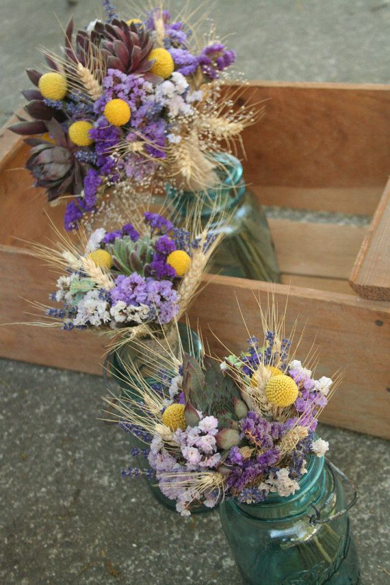 Hey, I found this really awesome Etsy listing at https://www.etsy.com/listing/162811946/wedding-flowers-purple-and-yellow-with