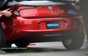 """Spy shot of Project """"N"""" Fisker  -- on it's way to the reveal during NY Auto Show"""