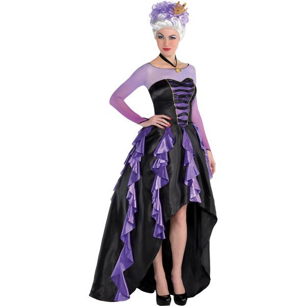adult ursula costume couture the little mermaid - Partyland Halloween Costumes