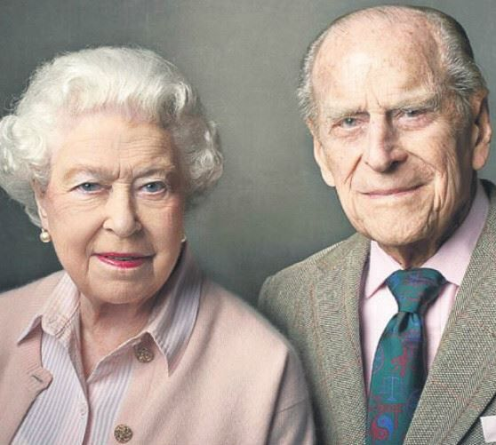 New photograph of the Queen and the Duke of Edinburgh released by Buckingham Palace as the Duke turns 95.